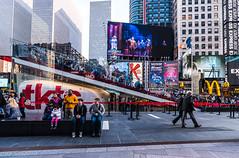 Times Square, NYC (nianci pan) Tags: street city nyc people urban holiday newyork landscape cityscape manhattan sony broadway timesquare pan    sonyalphadslr nianci sonyphotographing