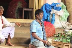 Work-worn face (bluelotus92) Tags: people india market marketplace karnataka mysore vegetableseller mysuru devarajursmarket devarajaursmarket workwornface