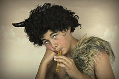 Satyr (Portrait Central) Tags: lighting boy portrait playing black clouds canon pose hair studio fur greek photography eos gold golden photo costume photographer mr god cosplay roman afro central young horns posed posing goat australia flute professional musical curly photograph narnia instrument backdrop pan hybrid mythology satyr whistle faun tumnus 550d