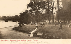 London - Hyde Park (pepandtim) Tags: road park old lake london sussex early postcard sydney nostalgia hyde eastbourne nostalgic collins puss serpentine 1905 grannie efa 22lhp85 11081905