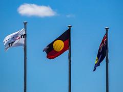Australian Aboriginal Flag (aushiker) Tags: flags urbanexploration fremantle australianaborginal