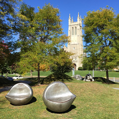 Seats of Learning (chantsign) Tags: trees sculpture art grass williamstown williamscollege