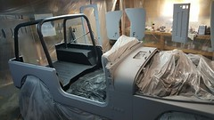 Pretty in Primer (spork_spelunking) Tags: work project grey paint jeep offroad 4x4 vehicle yj primer 1994 wrangler