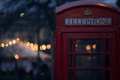 Call me Baby (♫♪♭Enricodot ♫♪♭) Tags: enricodot telephone red light lights bokeh edimburgh scottland ilobsterit