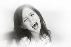 White Noise (mikeglide) Tags: photo photography portrait girl child blacknwhite bnw blackandwhite bw white noise whitenoise scream kid