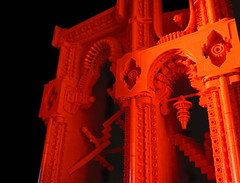 Red Dimension 02 (Lårs Kumpfert) Tags: lego art brickart red dimension escher architecture design oriental interstellar