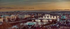 Panorama Prag (rsphotografie) Tags: prag praha prague tschechien czech moldau karlsbrücke sonnenuntergang botschaft schloss