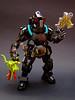 The Exterminator (Djokson) Tags: hazmat suit gasmask respirator goggles exterminator bounty hunter space warrior armor weapons black yellow green djokson lego bionicle moc model toy