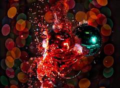 breaking balls (johnsinclair8888) Tags: christmas balls splash bokeh nikon sigma flash color