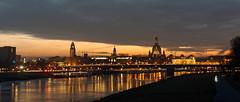 Dresdner Altstadtansicht am Abend (Veit Schagow) Tags: dresden river fluss elbe albis labe dreszdyn altstadt skyline