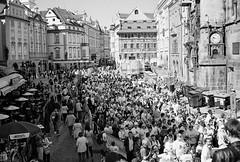 Prague  (Film 2011) (jerica colon) Tags: red blackandwhite prague marathon film 2011 nikon