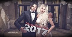 Happy new year 2017 ♥ (dolceluna_myoo) Tags: happynewyear happy catwa headmesh love couple woman man beautiful sl secondlife photos photogrspher