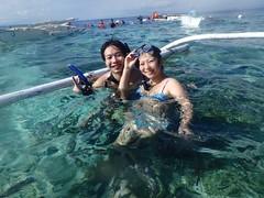 シュノーケルを満喫しきったふたり (Mr. and Mrs. Manpuku) Tags: フィリピン