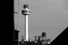 Liverpool (that Geoff...) Tags: liverpool tower radio city mono monochrome bw black white skyline rooftops cathedral mersey merseyside grey sky canon g7x