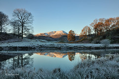 A Winter's Tale (jeanette_lea) Tags: river brathay elterwater the lake district sunrise dawn frost colours water grass sky light reflections trees fells