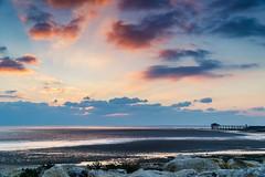 Couleur carrelet (m@t.) Tags: sunset mer aytre larochelle carrelet paysage plage nuage
