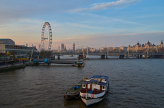 morning west (scottprice16) Tags: england london thames southbank northbank classicview viewpoint morning winter february parliament bigben londoneye festivalpier boats sunshine sunrise leicaxvario leica