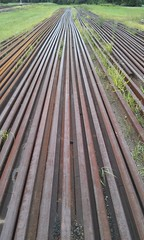 Rusty rails to infinity (spelio) Tags: australia 2017 email act ipad iphone perspective railway tracks parallel parallax 115 explore hugelabs