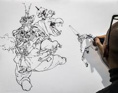 FIBD Angoulême 2017 (Jean-Luc Peluchon) Tags: fz1000 panasonic lumix drawing dessin bd cartoon artistic artistique art paper