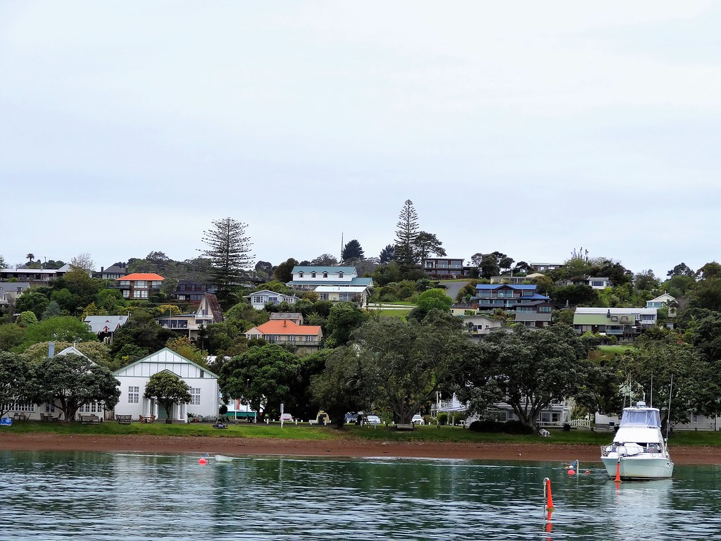 Russell on the Bay of Islands. Reflections in the ocean.