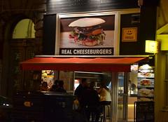 Paneer real cheeseburgers (afagen) Tags: budapest hungary night paneer restaurant sign cheeseburger