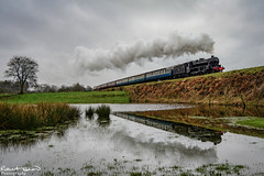 45212 (chromaphoto.co.uk) Tags: elr eastlancsrailway buryburrs steam train engine water reflections 45212 52322 34092 48624 76084 black5 standard4mt 8f westcountry lyr class27