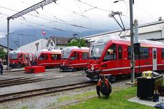 IMGP7802 (Alvier) Tags: schweiz graubünden rhb rhätischebahn landquart hauptwerkstätte tagderoffenentür triebfahrzeuge lokomotiven taufe triebzüge