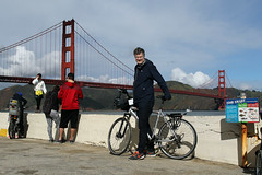 Close to the Bridge (Elfworld) Tags: ibmconnect2017 norwegians conference sanfrancisco ibm no goldengatebridge bicycling dowtown city usa tourism sightseeing citystreets