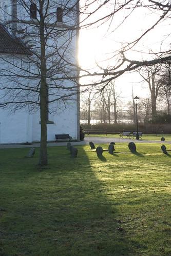 Light on the graveyard