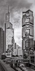 Queensway (ksikappa) Tags: blackandwhite bw hk monochrome hongkong cityscape hongkongisland queensway lippocentre admiralty bankofchina tonalitypro