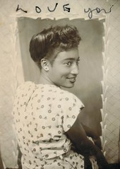 """Love you"" (sctatepdx) Tags: photobooth 1940s africanamerican africanamericanwoman vintagedress vintagephotobooth"