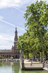 Plaza de Espaa_Sevilla-II (jamp_foto) Tags: plaza sun art history sol architecture square ceramic sevilla andaluca arquitectura day arte seville basin estanque andalusia da historia cermica