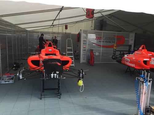 The Arden MSA Formula pit at Rockingham