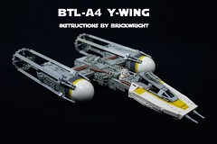 BTL-A4 Y-wing Instructions (Version 2) (Brickwright) Tags: starwars lego instructions v2 yavin starfighter ywing