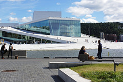 Oslo | Oslo Opera House 02 (Christopher James Botham) Tags: cloud sun sunlight house building water oslo norway architecture clouds outdoors daylight opera day waterfront sony norwegian snhetta snohetta a65