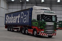 Stobart H2369 PO15 UXF Cleo Katie at Stobart Fest 2015 22/8/15 (CraigPatrick24) Tags: road truck cab transport container lorry delivery vehicle trailer carlisle scania logistics carlisleairport stobart eddiestobart stobartrail skeletaltrailer stobartgroup h2369 scaniar450 stobartfest cleokatie po15uxf stobartfest2015