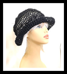 Black Crochet Hat Womens Hat, Womens Summer Hat Women, Crochet Wide Brim Hat, Hemp Cord Hat, Black Hat, Boho Hat, Hemp Sun Hat, MONCHERIE (strawberrycouture) Tags: summer black hat cord strawberry women crochet wide womens chic boho couture hemp brim