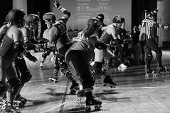 rebels_vs_panic_L1063721 1 (nocklebeast) Tags: ca usa santacruz rollerderby rollergirls zombies vampires skates organicpanic santacruzderbygirls redwoodrebels