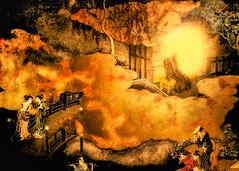 Gautama (Shaka Nyorai) (Astroredg) Tags: bridge light japan river japanese gold heaven paradise nirvana religion illumination monk communication geisha pont shaka eden meditation elysium spiritual enlightenment buddah japon utopia paradis trance etheral japonais goldleaf transe spirituel religieux utopie bouddah transcending nyorai gautama shakanyorai