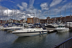 Port Solent (Jainbow) Tags: water marina boats apartments sailing harbour portsmouth yachts portsolent jainbow