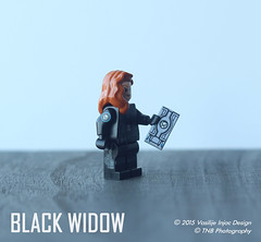 Lego Captain America: The Winter Soldier Black Widow (Vasilije Injac) Tags: winter black america soldier war lego civil captain usb shield minifig widow natasha holster minifigure the romanoff