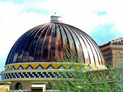Copper Cupola (chicbee04) Tags: metal colorful tucson metalroof afternoondrive arizonausa catalinafoothills coppercupola canonpowershotsx60hs eastskylinedrive