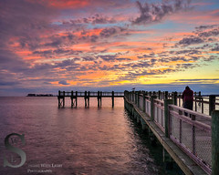 Steven catching the sunset from the pier (Singing With Light) Tags: sunset fall reflections photography cool downtown december sony ct 18th milford mirrorless gulfbeach sonykitlens sony16mm28 singingwithlight singingwithlightphotography sonya6000 sony24240 lightjj