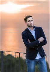 Portrait at sunset (Giuseppe Tripodi) Tags: sunset portrait man uomo