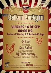 Teatro el Viento_Afiche Balkan party III (Sil. DiseoOo) Tags: poster fiesta fest afiche balkan