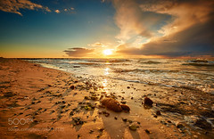 Baltic Sea Germany (DRoofing163) Tags: landscape sunset beach sun ocean gold seascape germany dawn baltic sea ostsee zingst