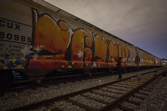 slick 76759 (dogslobber) Tags: graffiti graff spray art burner paint painting freights freight whole car wholecar roller steel rails railfan trains hoppers foamer