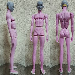 New Narin 65cm (bimong11) Tags: narin 65cm all new joint body image base clay putty work art bimong bjd doll ladoll fando boy man slim muscles isopink cutting wip