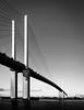 QE2 Bridge (Warren Brendan McCann) Tags: qe2bridge dartford thames bridge canonefs10mm22mmf3545usm canon canoneos7dmark2 manfrotto mono blackandwhite