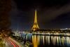 Eiffel Tower from bir-hakeim bridge (Vince Mako) Tags: longexposure longueexposition canon 5dmarkiv paris eiffel birhakeim night bridge seine